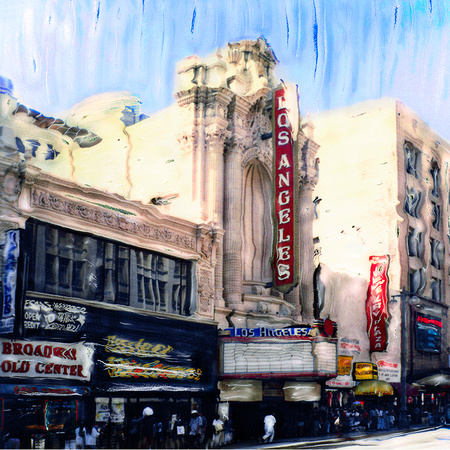 "LOS ANGELES THEATER:  16"" X 16"" & 24"" X 24"""